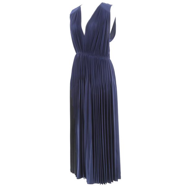 Rare Stunning JULIA JENTZSCH NWT $2715 V-Neck Women's Long Dress - Navy Blue