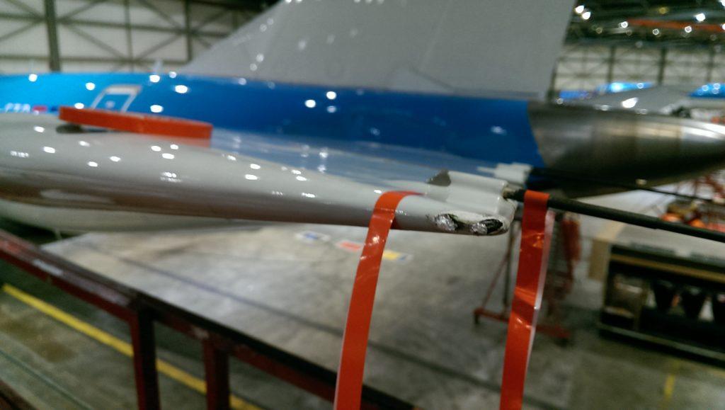 Lightning strike KLM