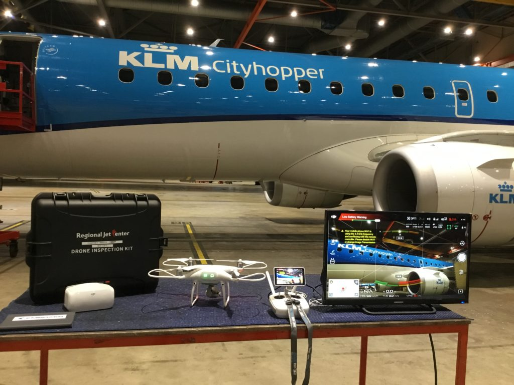 KLM drone inspection