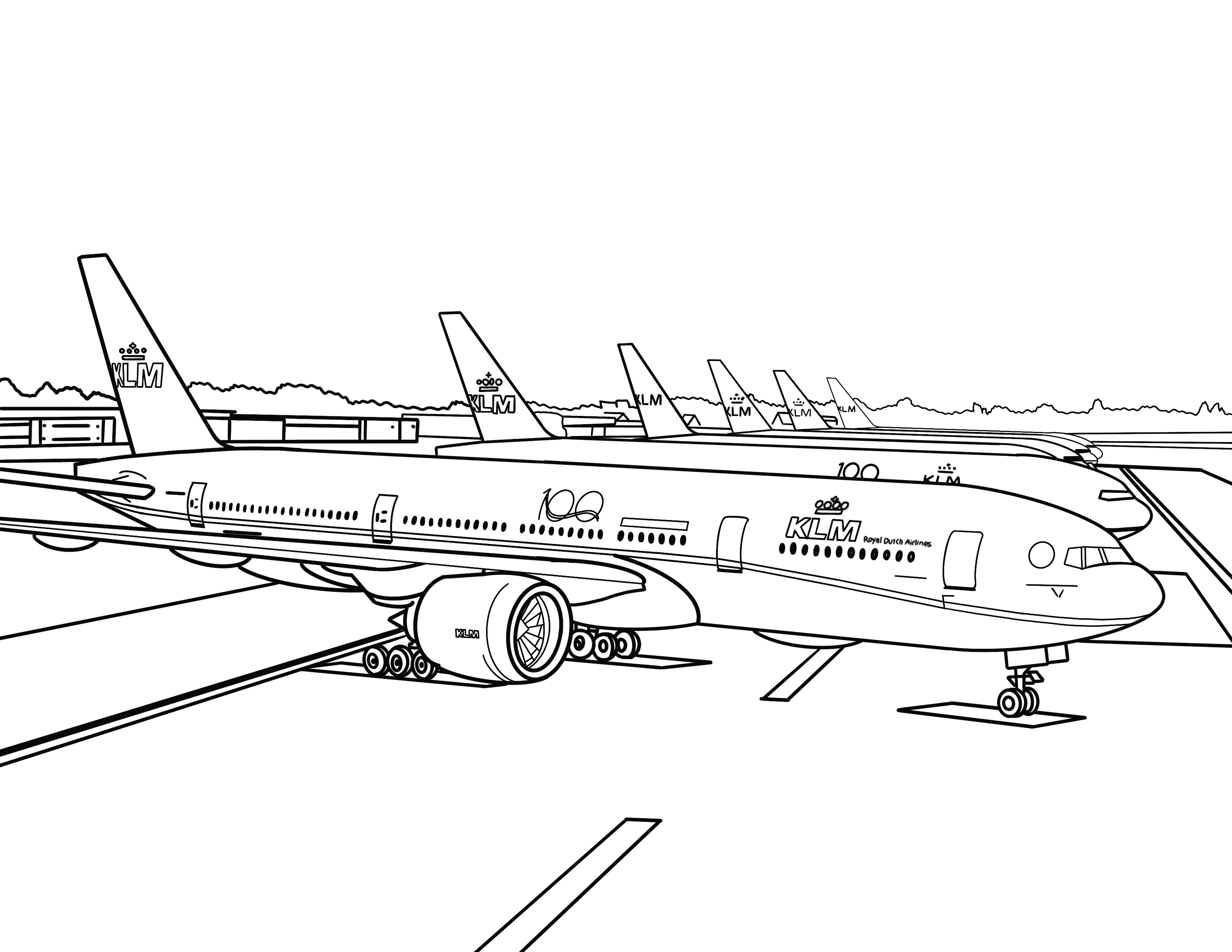 Travel From Home With Our Coloring Pages Klm Passport