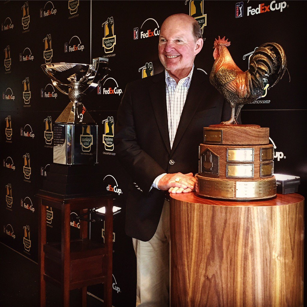 Sanderson Farms Championship Trophy, Reveille, and President-COO