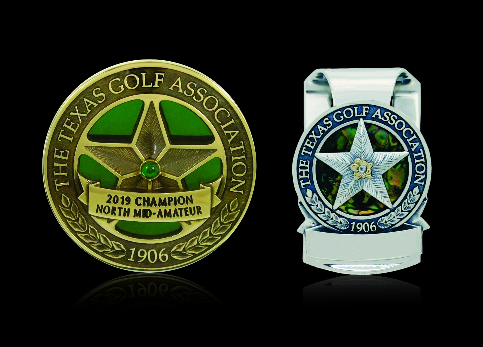 Texas Golf Assocation Medal and Money Clip 1