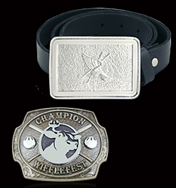 Winged Foot Golf Club and Wifflefest Belt Buckle
