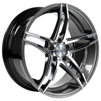 Tomason TN12 18 Dark hyper black polished inch velg