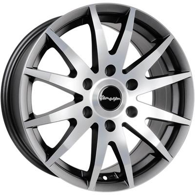 Tomason TN1F 16 Black matt polished inch velg