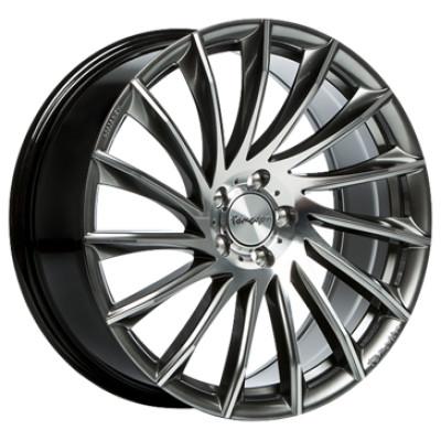 Tomason TN16 22 Dark hyper black polished inch velg