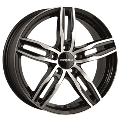 Carmani CA14 Paul 16 black polish inch velg