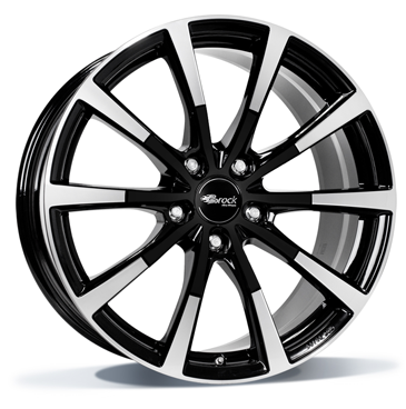 BROCK B32 19 Zwart glanzend Polished Edition inch velg