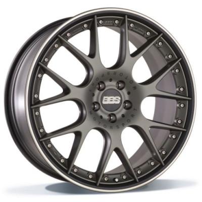 BBS CH-RII 22 platinum/black inch velg