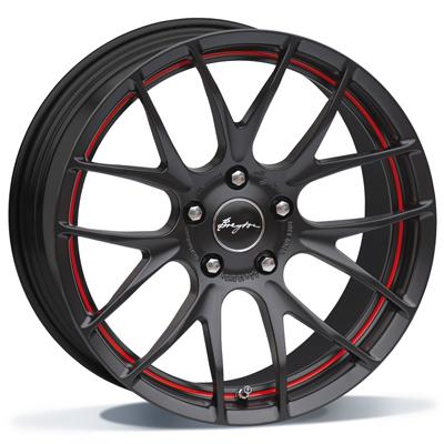 Breyton Race GTS-R 17 Matt Black with Red Undercut Area inch velg