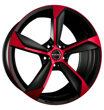 BORBET S 19 Matt Black Red inch velg