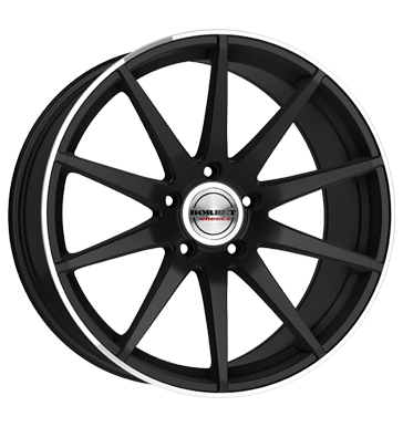 BORBET GTX 19 Matt Black Polished inch velg