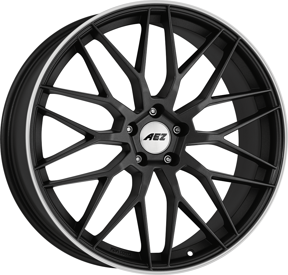 AEZ Crest dark 20 gunmetal matt/polished lip inch velg