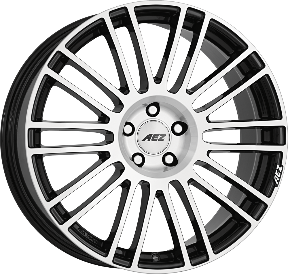 AEZ Strike 20 Black/polished inch velg