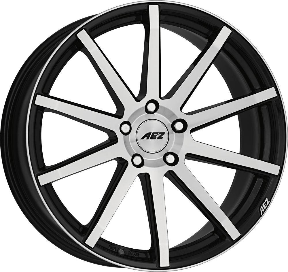 AEZ Straight 20 Black/polished inch velg
