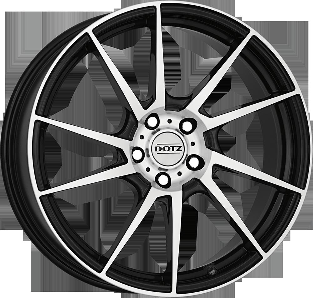 Dotz Kendo 16 Black/polished inch velg