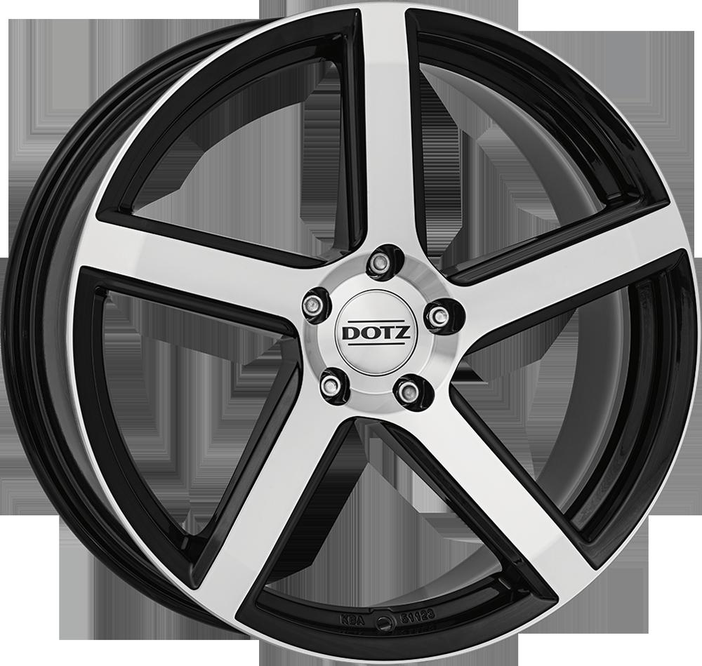 Dotz CP5 dark 20 Black/polished inch velg