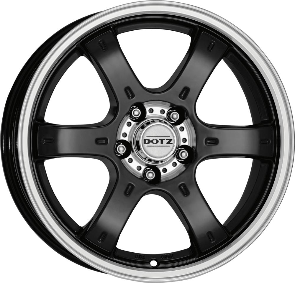 DOTZ 4X4 Crunch 18 Black/polished inch velg