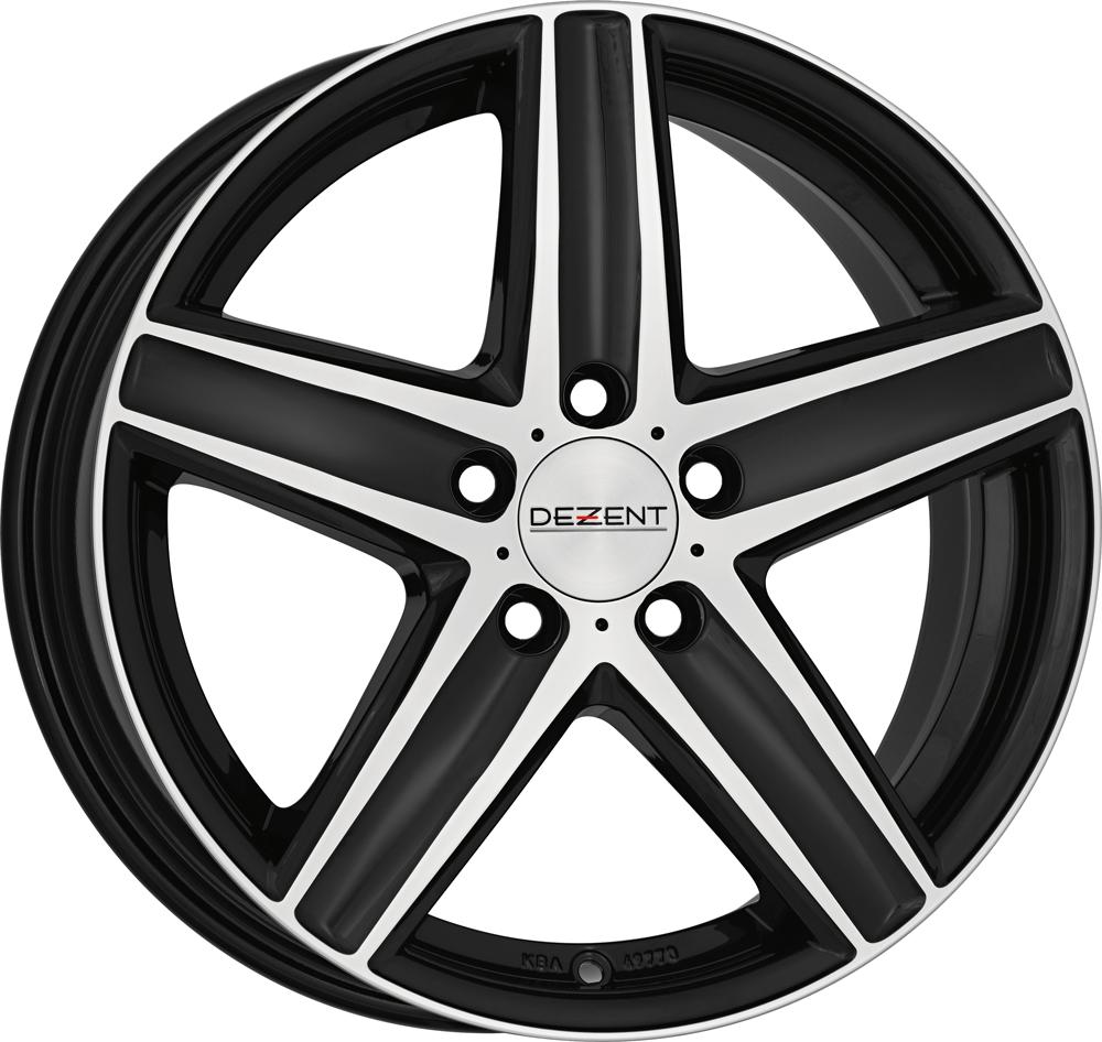DEZENT TG dark 16 Black/polished inch velg