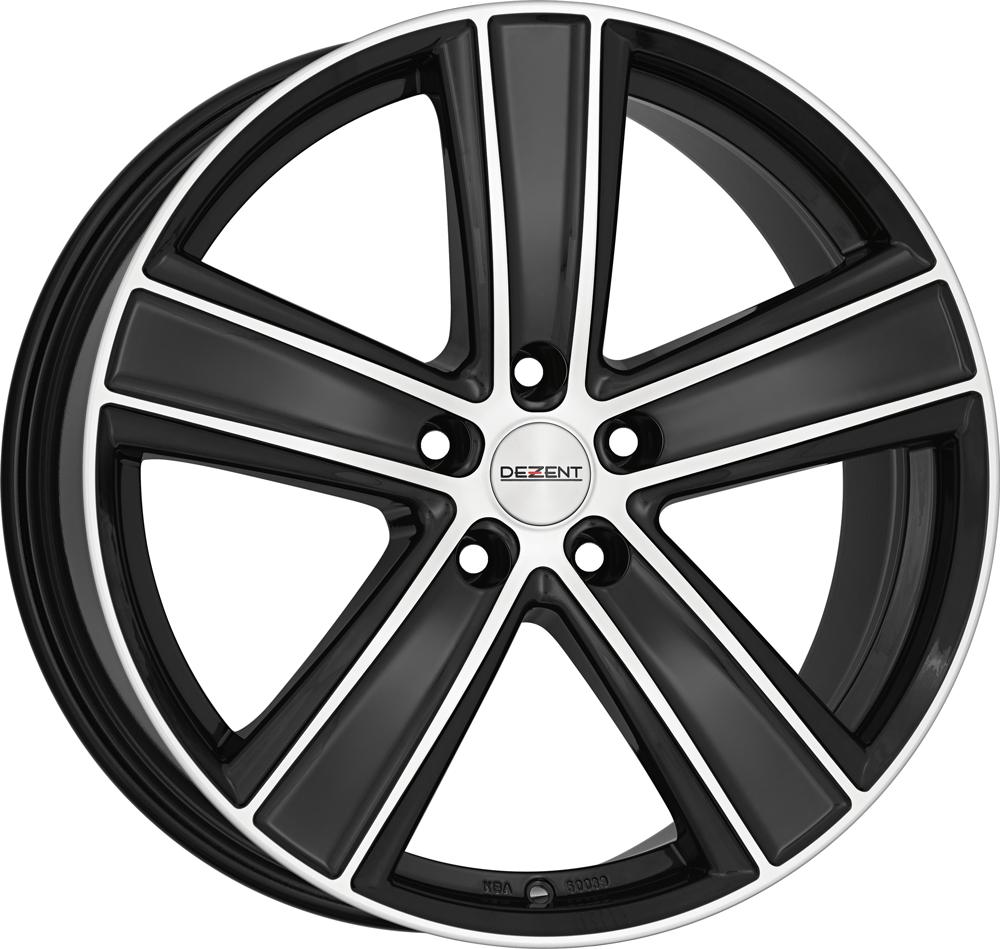 DEZENT TH dark 20 Black/polished inch velg
