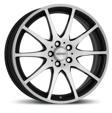 DEZENT TI dark 15 Black/polished inch velg