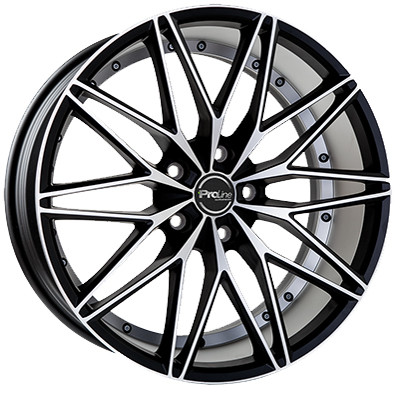 Proline Wheels PXE 18 black matt polished inch velg