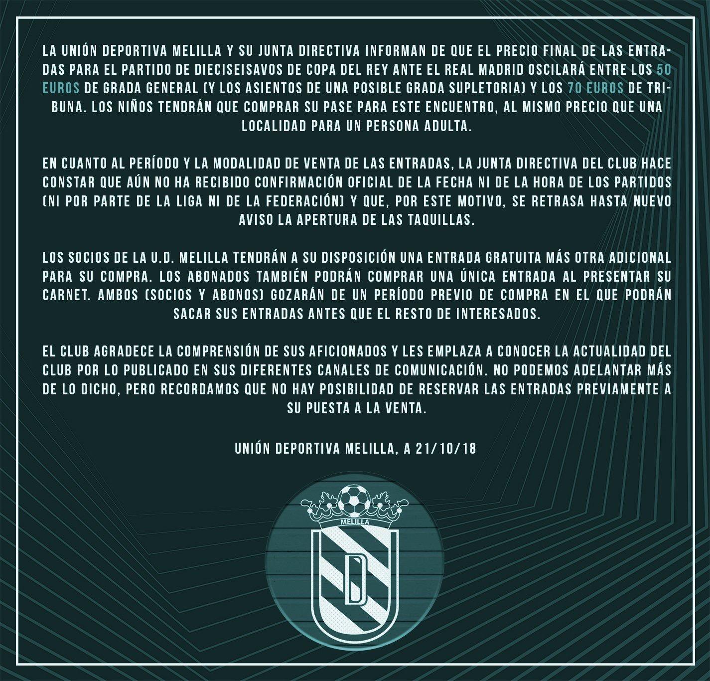 32e7f5e06 La UD Melilla hace oficial los precios de las entradas para el partido ante  el Real Madrid