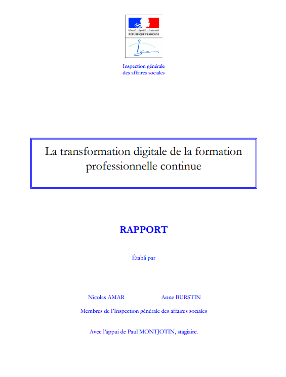 RAPPORT IGAS TRANSFORMATION DIGITALE DES OF