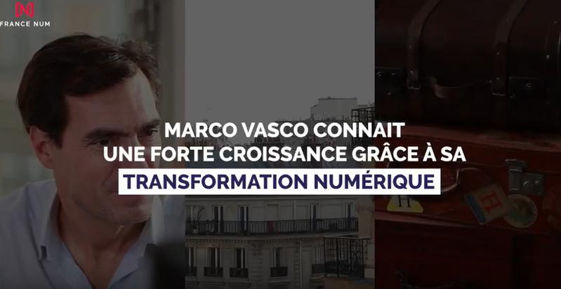 MARCO VASCO, 100% du business vient du online