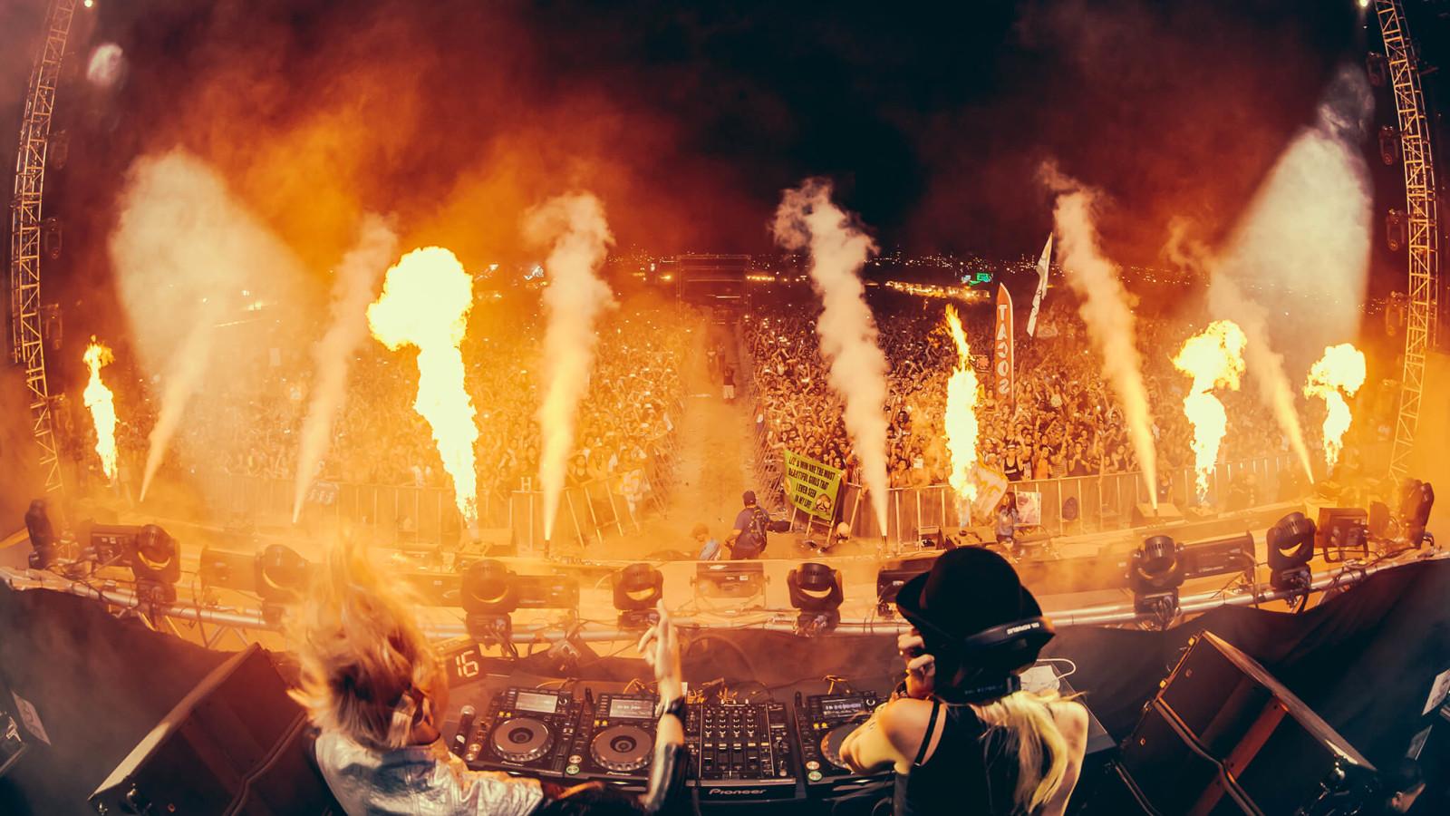 NERVO performing at Sun City Music Festival 2015