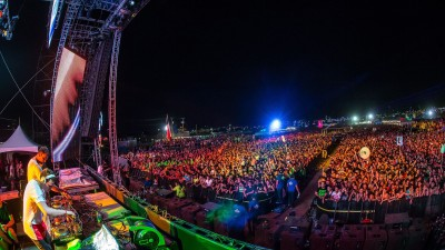 W&W performing at Sun City Music Festival 2014
