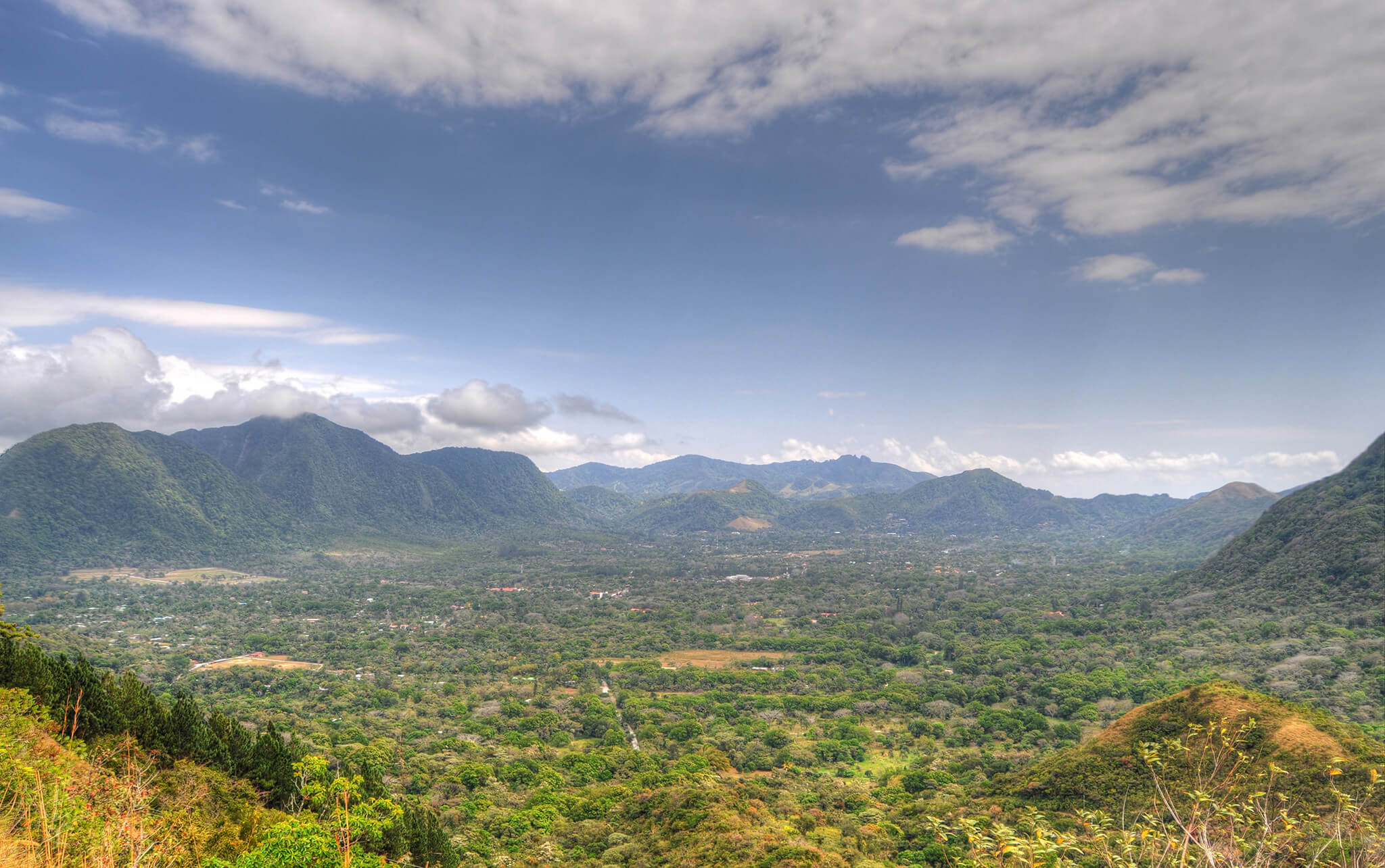 Panoramic view of the volcano crater of El Valle de Anton, Panama