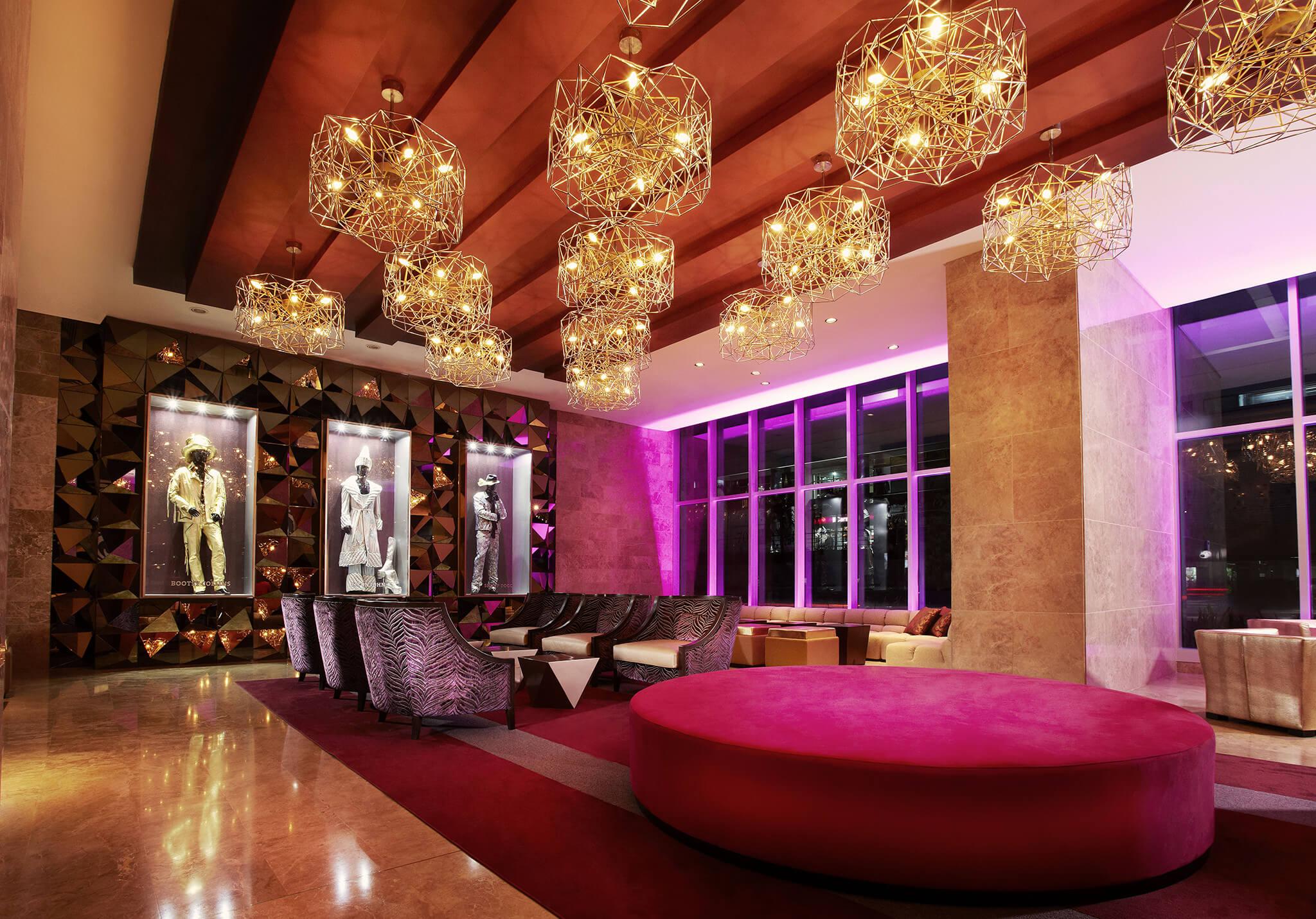 Lobby of the Hard Rock Hotel in Panama
