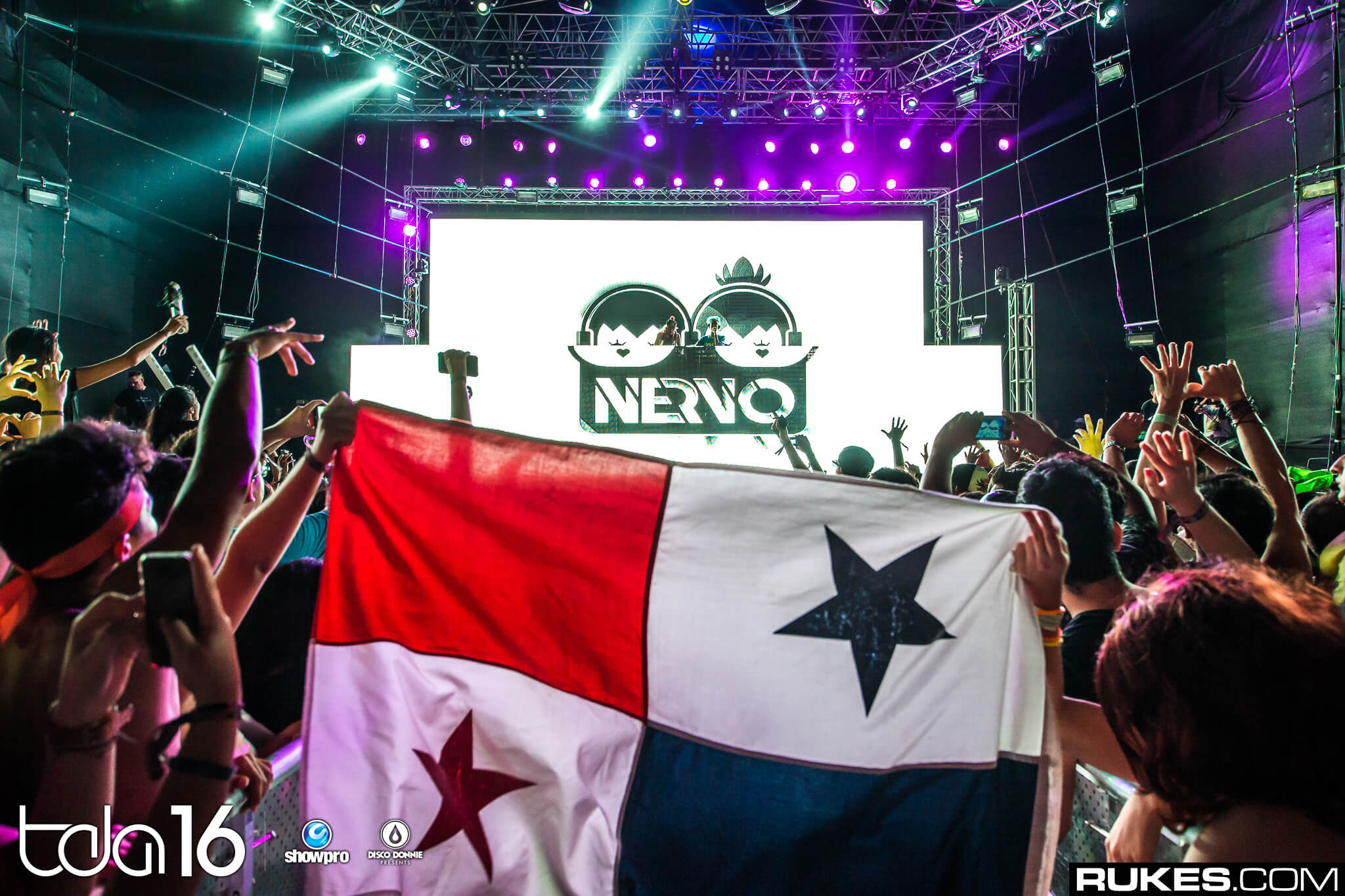 NERVO performing at The Day After Festival 2016. Photo by Rukes.