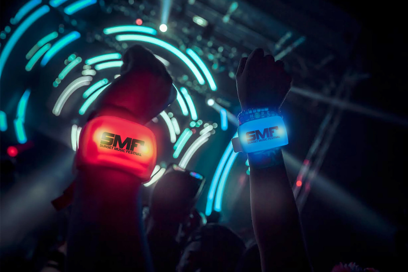 Glow Motion Wristbands at Sunset Music Festival