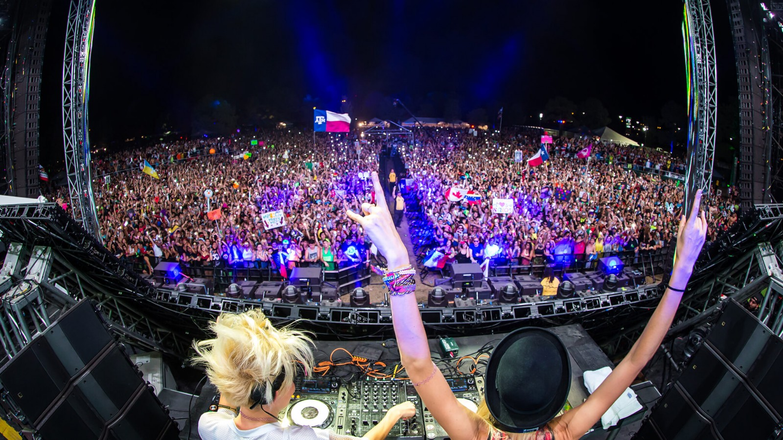 NERVO performing at Something Wicked 2014