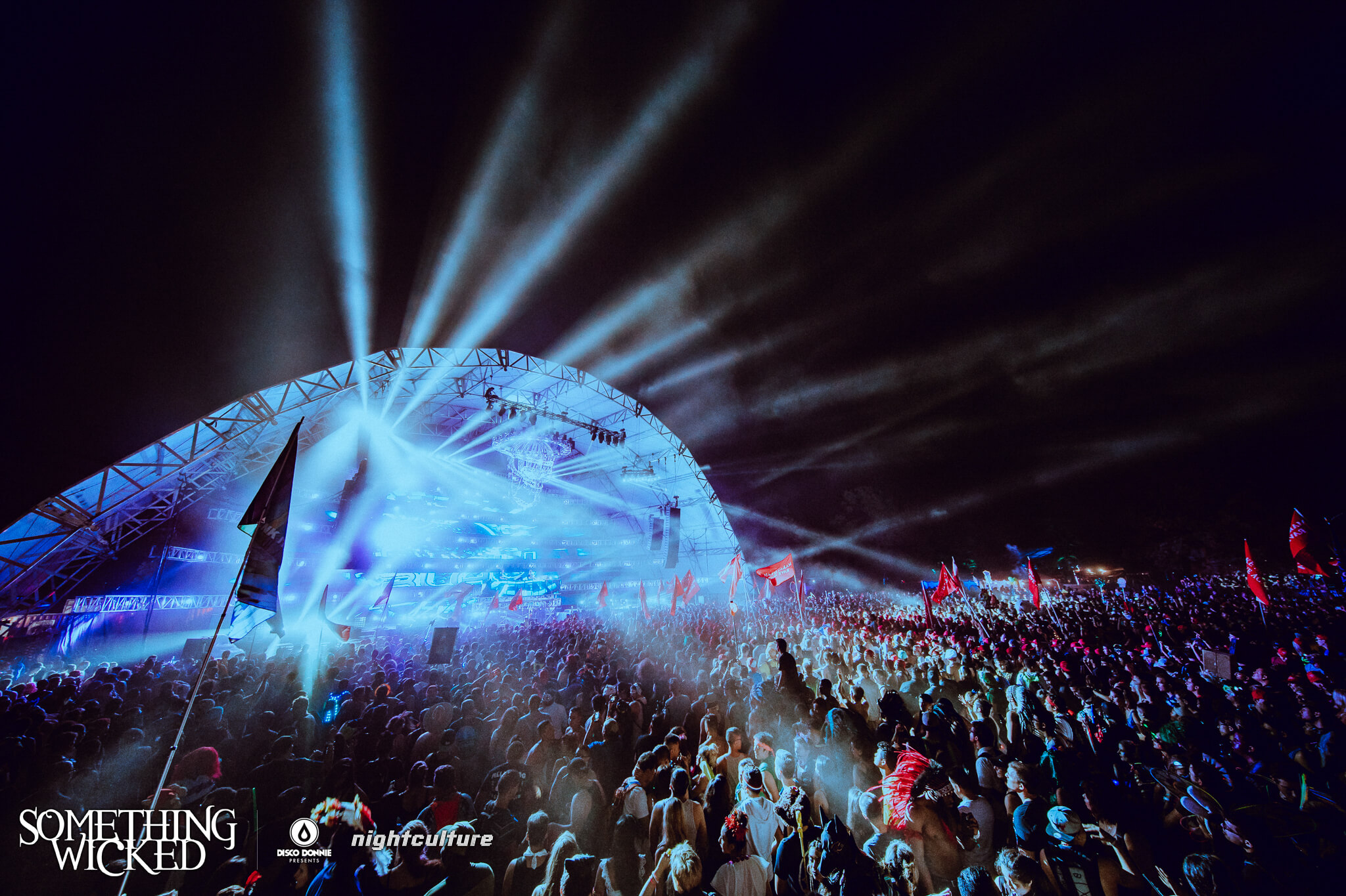 Shadowlands main stage at Something Wicked. Photo by Julian Bajsel.