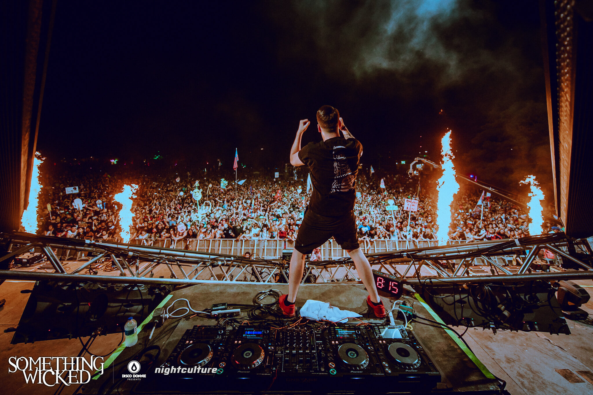 Zomboy performing at Something Wicked. Photo by Julian Bajel.