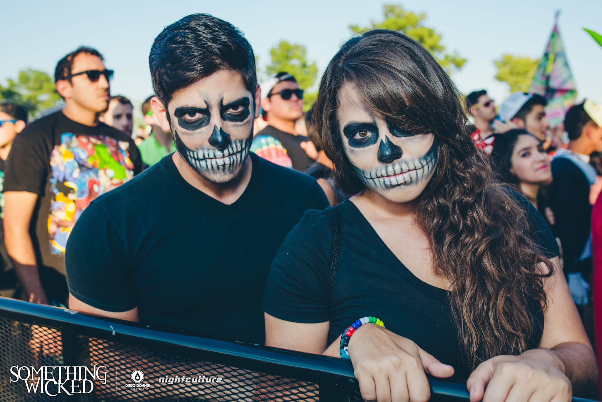 skeleton halloween makeup at something wicked festival