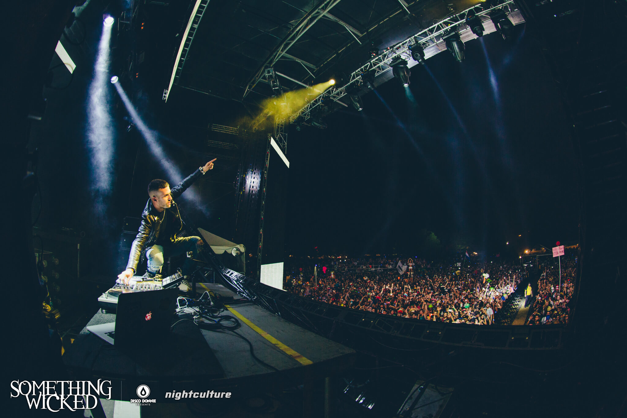 a-trak performing live at something wicked festival