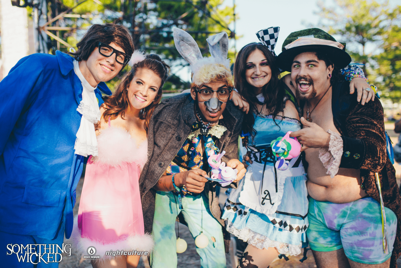 costumed group of fans at something wicked