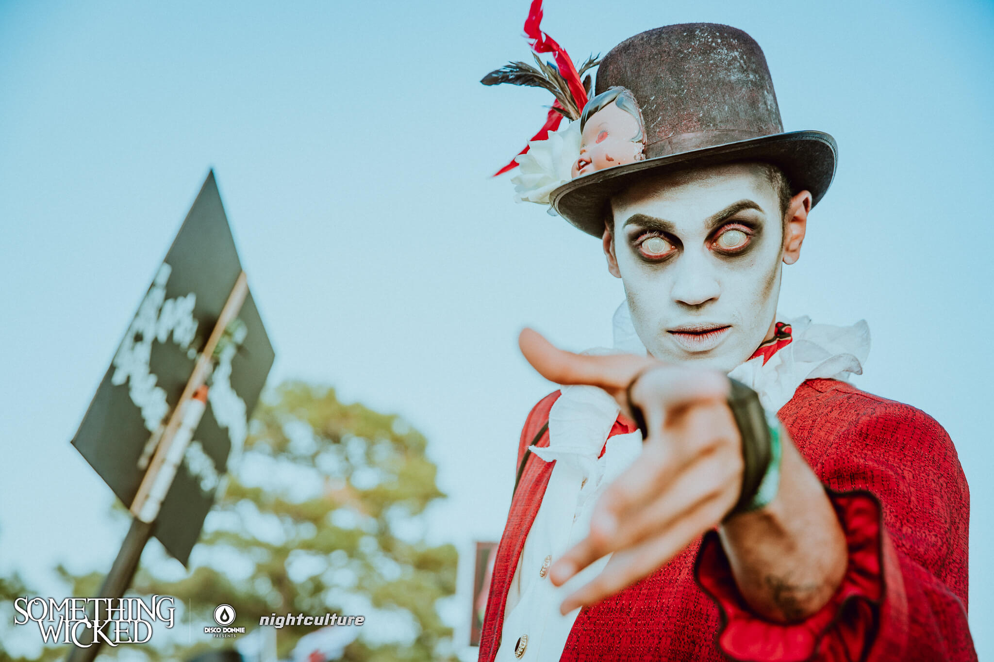 stage performer at something wicked festival