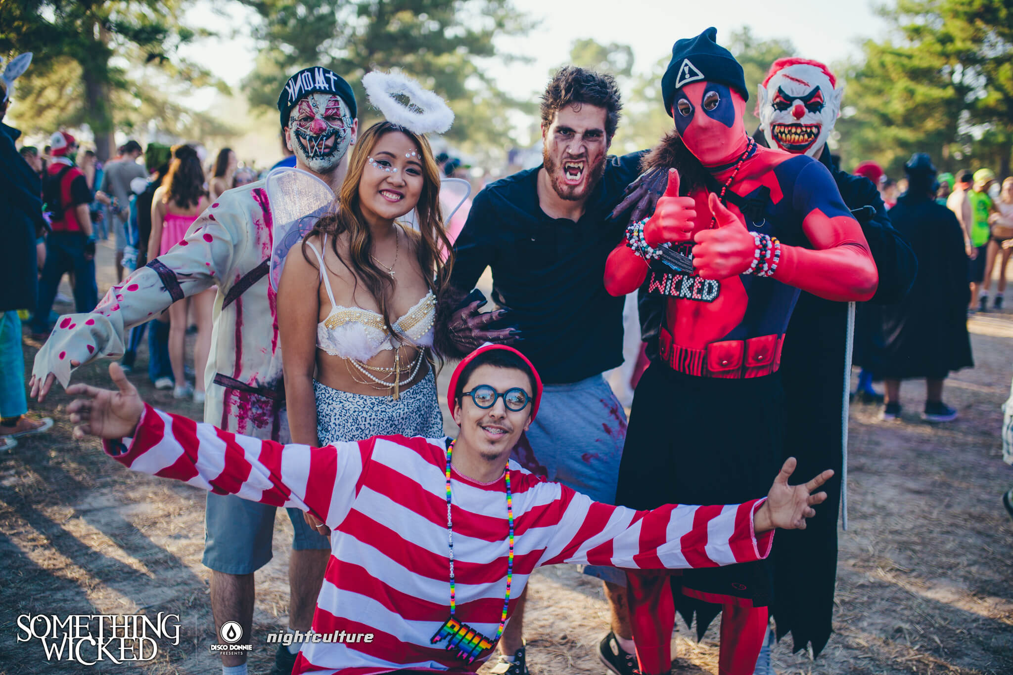fans in costume at something wicked