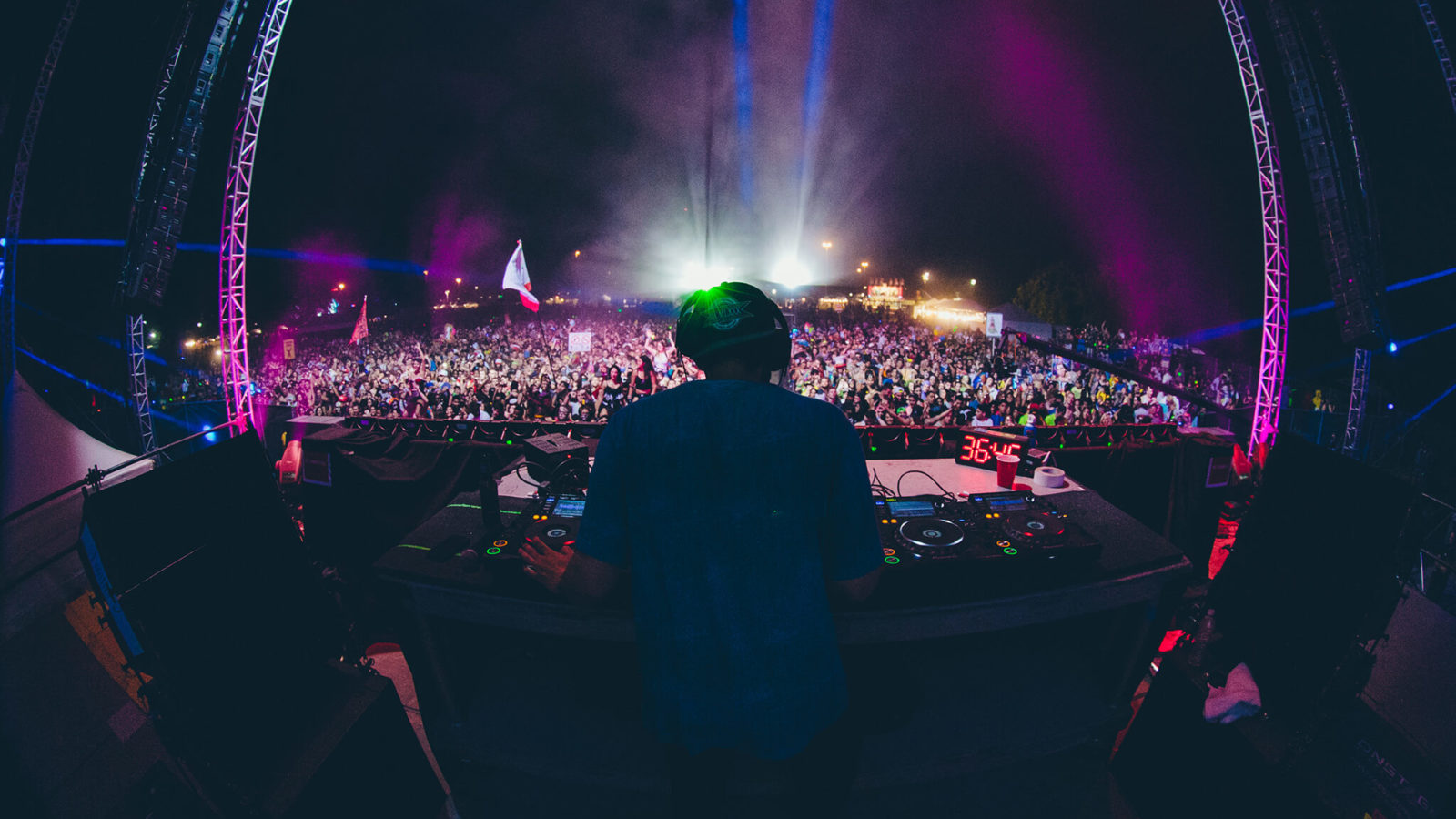 DJ on stage at something wicked