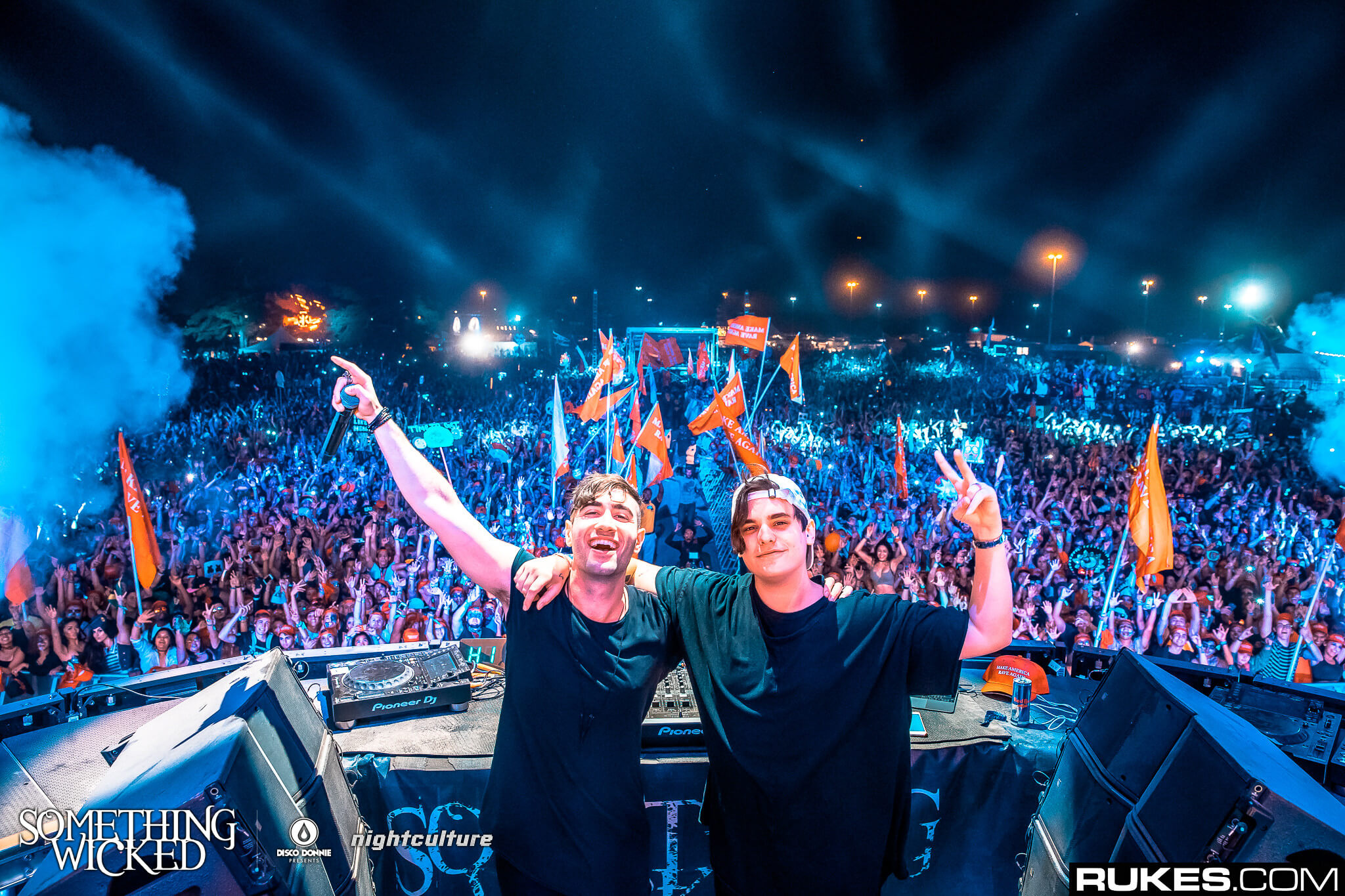 3LAU and Audien at Something Wicked. Photo by Rukes.