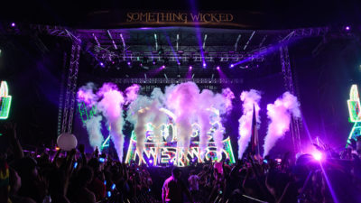 nervo on stage at something wicked