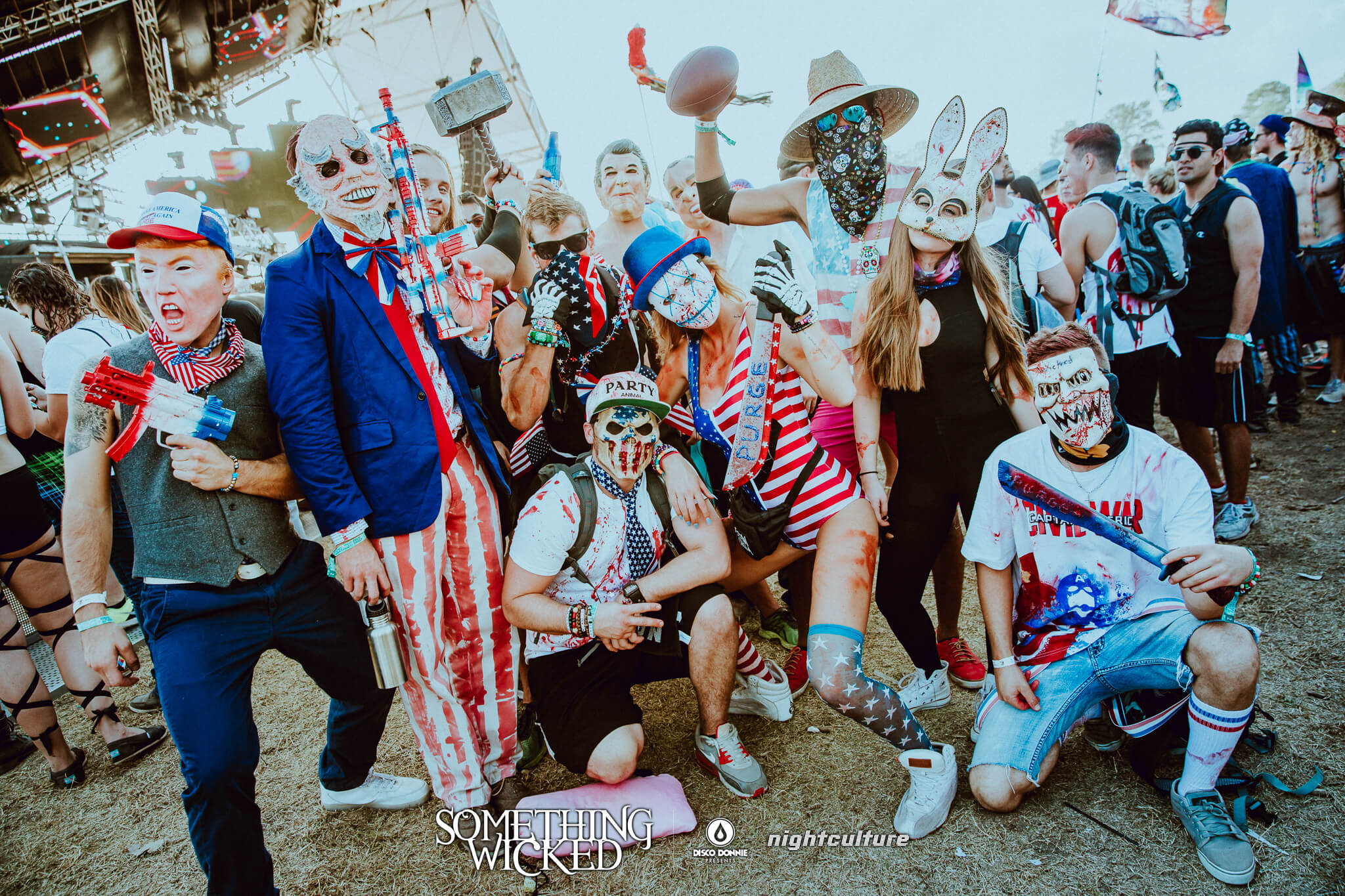 make america rave again presidential election crew at something wicked festival