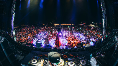 Deorro performing at Something Wicked 2014