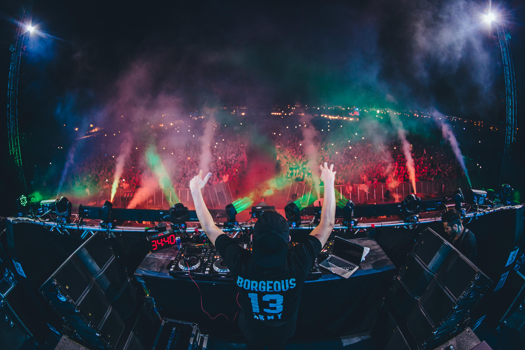 Borgeous performing at Sun City Music Festival 2014