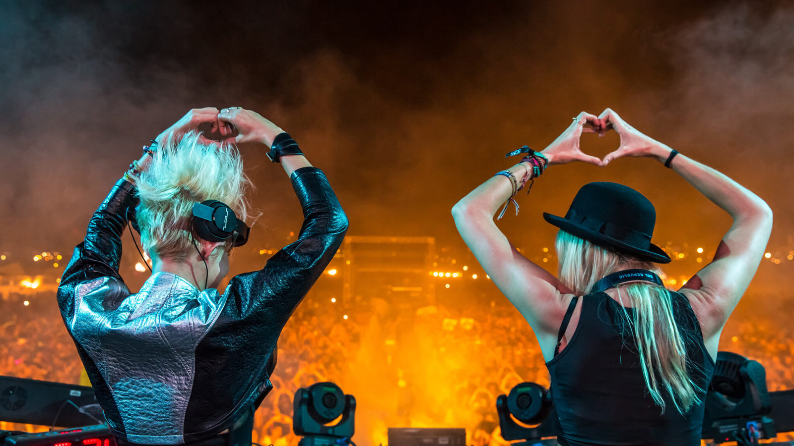 NERVO performing at Sun City Music Festival 2015